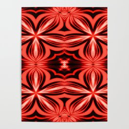 Electric Red Pattern Poster