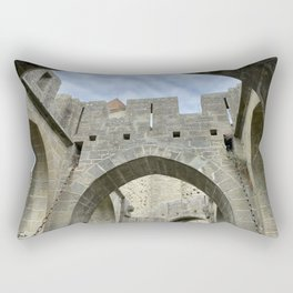 arches and arcades of the City of Carcassonne Rectangular Pillow