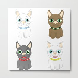 The Many Expressions of Dogs Metal Print