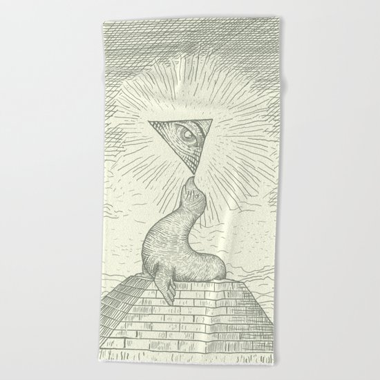 The Masonic Seal Beach Towel