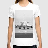 airplane T-shirts featuring Airplane  by Gustavo Aragundi