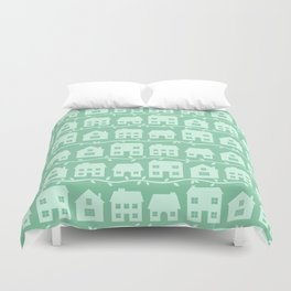 Cottage Charm in Peppermint Green Duvet Cover