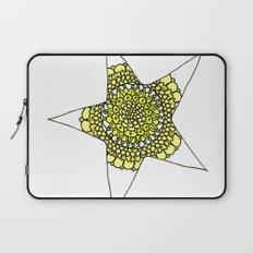 Yellow Superstar Mandala Star Laptop Sleeve
