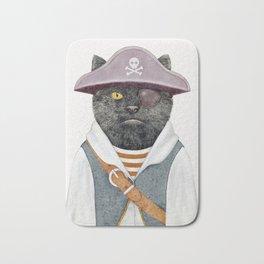 Pirate Cat Bath Mat