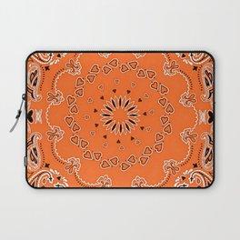 Orange oriental design Laptop Sleeve