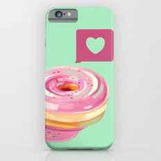 Pink Heart Frosted Donut iPhone 6s Slim Case