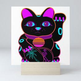 Maneki-Neon Mini Art Print
