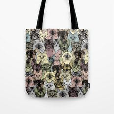 just cats retro Tote Bag