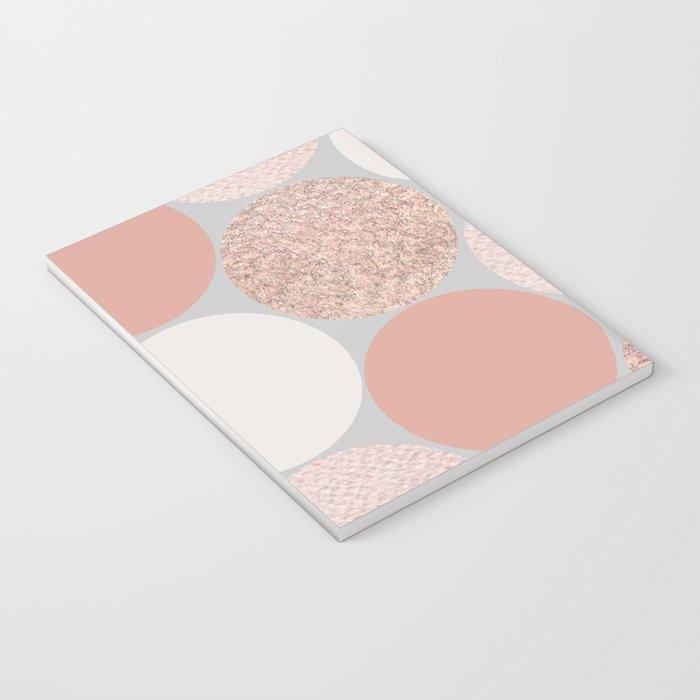 Rose Gold Dots Notebook