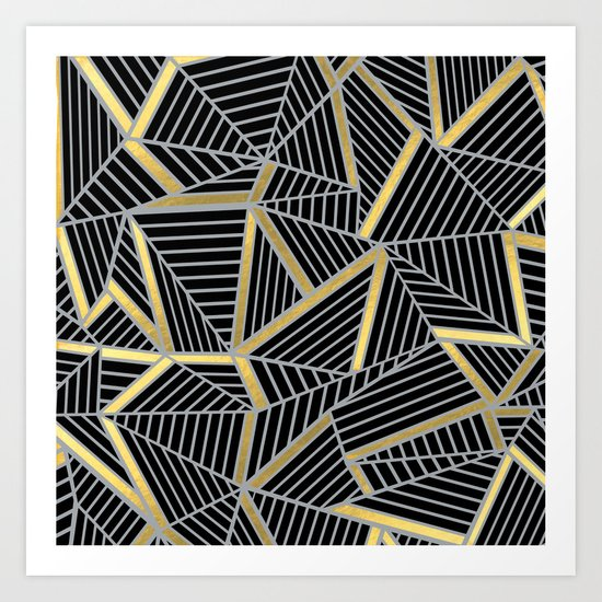 Ab 2 Silver and Gold Art Print