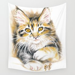 Maine Coon Kitty Wall Tapestry