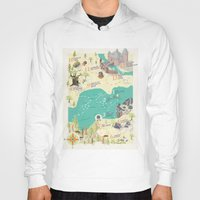 princess bride Hoodies featuring Princess Bride Discovery Map by Wattle&Daub