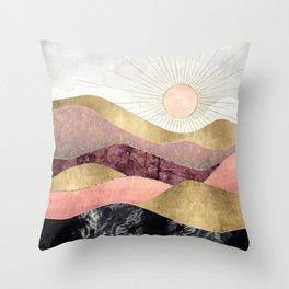Blush Sun Throw Pillow