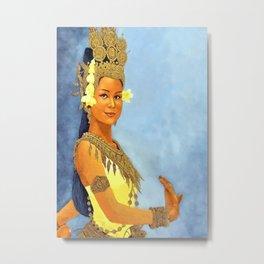 Apsara Girl Metal Print