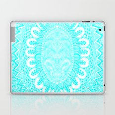 Blue and White Doodle Laptop & iPad Skin