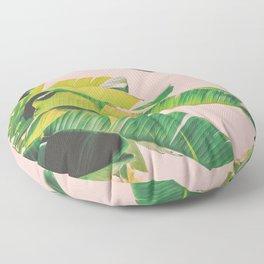 Banana Leaves III (Pink) Floor Pillow