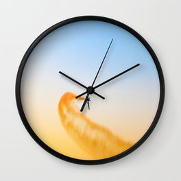 aeroplane airplane Wall Clock