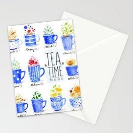 Tea Time Menu Stationery Cards