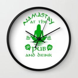 Namastay At The Pub And Drink Wall Clock
