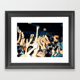 Stage Diving Framed Art Print