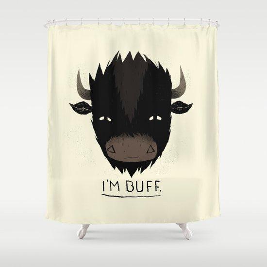 Buff. Shower Curtain