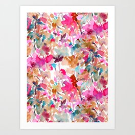 Local Color (Pink) Art Print