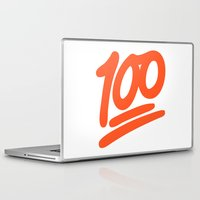 emoji Laptop & iPad Skins featuring 100 EMOJI by Nolan Dempsey