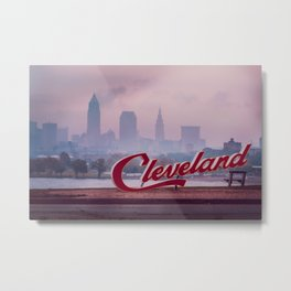 Homesick - Cleveland Skyline Metal Print