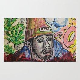 Tyler,The Creator,rapper,rap,music,fan art,wall art,artwork,colourful,weed,odd future,flower boy Rug