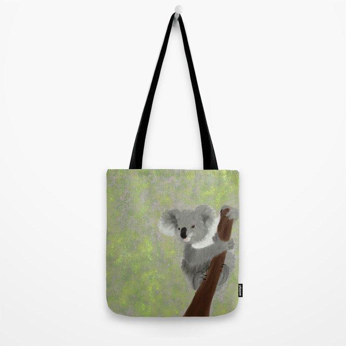 Koala Bear Hanging In There Tote Bag