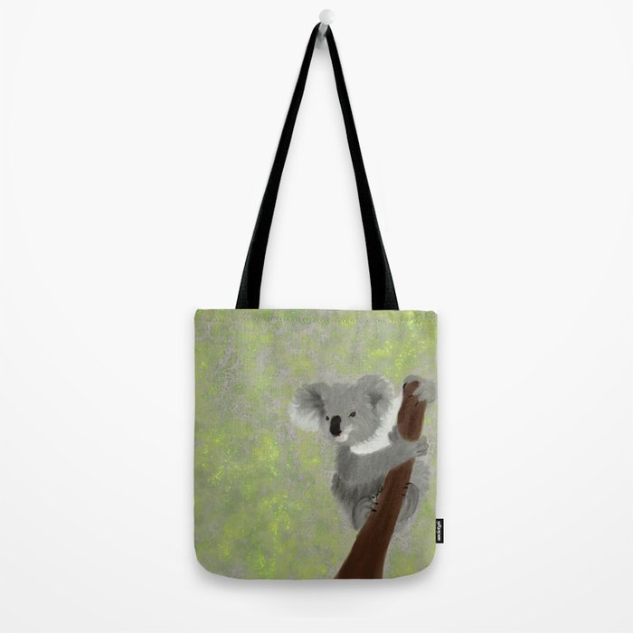 Koala Bear Hanging In There Tote Bag