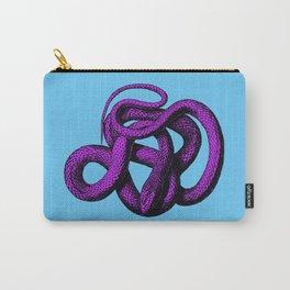 Snek 4 Snake Purple Blue Carry-All Pouch