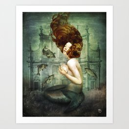 The Mermaid´s Pearl Art Print