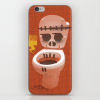toilet iPhone & iPod Skins featuring Toilet Bowl by YONIL