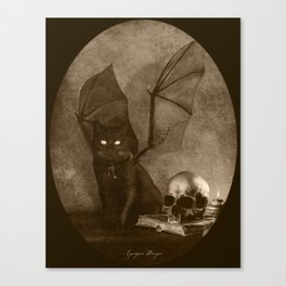 Dark Victorian Portrait: The Familiar Canvas Print