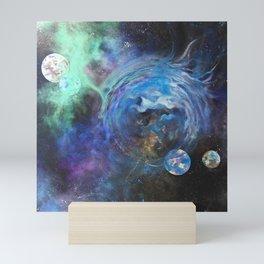 Blue Bubble Nebula Mini Art Print