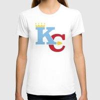 kansas city T-shirts featuring Kansas City Sports Red & Blue by Haley Jo Phoenix