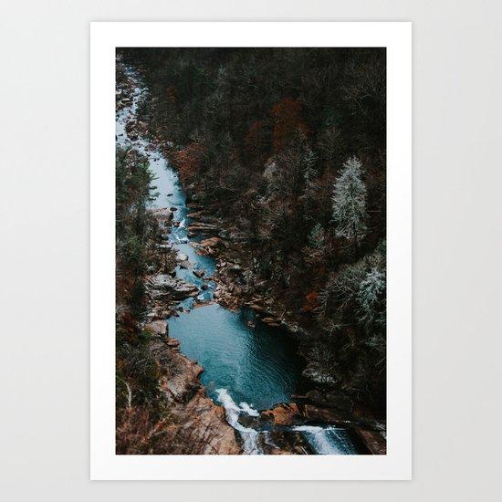 Blue Creek #landscape #society6 Art Print