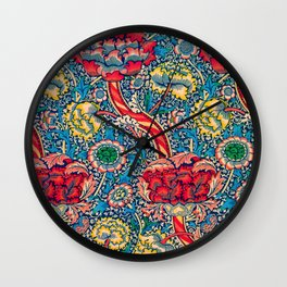 12,000pixel-500dpi - William Morris - Wandle - Digital Remastered Edition Wall Clock
