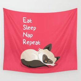 Cat's Life Wall Tapestry