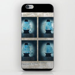 A Moment in Time (Blue) iPhone Skin