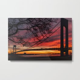 Sunrise at the Bridge Metal Print
