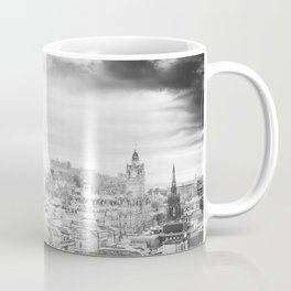 Edinburgh city and castle from Calton hill and Stewart monument 4 Coffee Mug