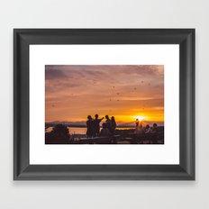 Sunset in Seattle Framed Art Print