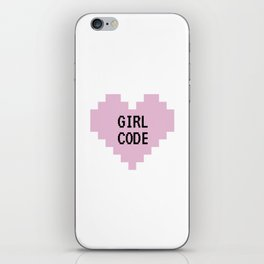 GIRL CODE iPhone Skin