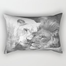 Lion in Love Valentine's Day Rectangular Pillow