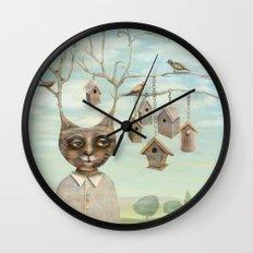 Bird Houses Wall Clock