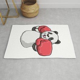 Panda at Boxing with Boxing gloves Rug