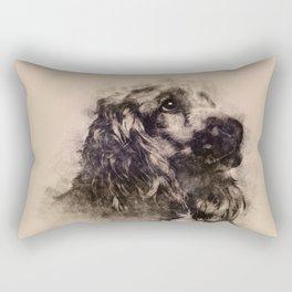 English Cocker Spaniel Sketch Rectangular Pillow