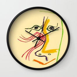 Hommage A Rene Char Vintage Picasso Exhibit Poster Print Wall Clock